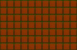 Terracotta tile square brown green emerald lines background symmetrical dark base urban royalty free stock photo