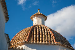 Terracotta tiled domed roof Royalty Free Stock Photo