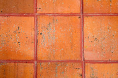 Terracotta Tiles. Detail of terracotta tiles on the floor royalty free stock photography
