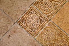 Terracotta tiles. Combination of retro terracotta tiles Stock Image