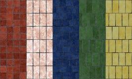 Terracotta tiles samples Stock Image