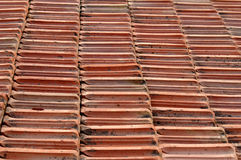 Terracotta tiling. Texture of  red terracotta tiling Royalty Free Stock Photo