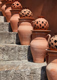 Terracotta urns Royalty Free Stock Images
