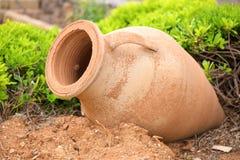 Terracotta vase stock image