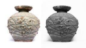 Terracotta vases. Terracotta vases on white background Stock Photo
