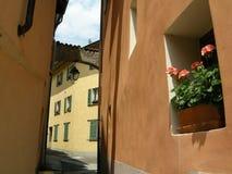 Terracotta village Italy stock photo