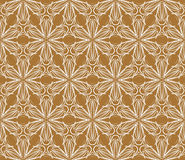 Terracotta vintage fabric, seamless vector pattern Royalty Free Stock Photo