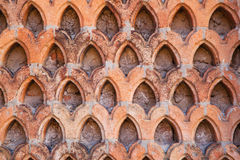 Terracotta wall pattern Stock Photography