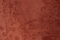 Terracotta wall with scrapes. royalty free stock photos