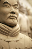 Terracotta warrior - close up Stock Images