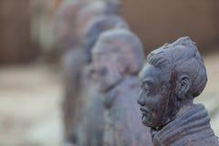 Terracotta warrior head, Xian China Royalty Free Stock Photo