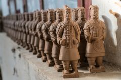 Terracotta Warrior Replicas royalty free stock photography