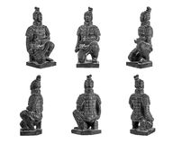 Terracotta warrior. On white background Royalty Free Stock Photos