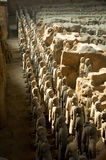 Terracotta warriors. Terracotta army near Xi'an, China Stock Photography