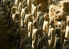 Terracotta warriors. Close up of the terracotta army, near Xi'an, China royalty free stock image