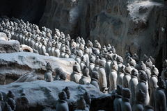 Terracotta warriors. Terracotta army in Xian museum Royalty Free Stock Image