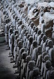Terracotta warriors. In Xian museum Stock Photos