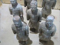 Terracotta Warriors. Chinese terracotta warriors Stock Photography