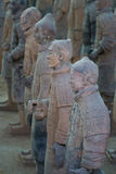 Terracotta warriors. In Xian, China Royalty Free Stock Image