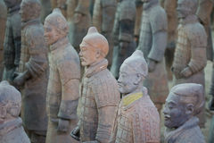 Terracotta warriors. In Xian, China Royalty Free Stock Photography