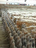 Terracotta Warriors. The ancient Terracotta Warriors, unveiled after 2,200 years, in Xian, China Royalty Free Stock Images
