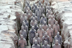 Terracotta Warriors. Terra-Cotta warriors of Qinshihuang Royalty Free Stock Photo
