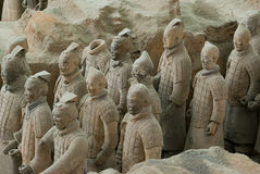 The Terracotta Warriors stock images