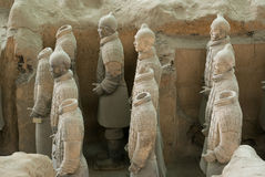 The Terracotta Warriors Royalty Free Stock Photography