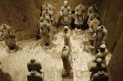 Terracotta warriors. Of the Terracotta Army, from the mausoleum of Qin Shi Huang, the first Emperor of China Stock Photography