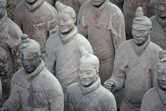 Terracotta warriors, China. Close up view of the Terracotta warriors in Xian, China royalty free stock photography