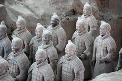 Terracotta warriors, China. Group of terracotta warriors in Xian, China stock photo