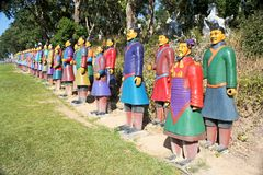 Terracotta warriors from China Stock Photo