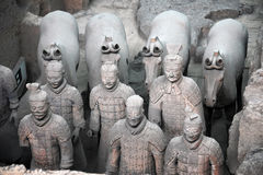 Terracotta Warriors of China. Is historic heritage as famous as Mummy of Egypt Royalty Free Stock Images