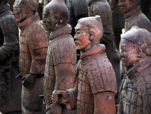Terracotta Warriors of China. Is historic heritage as famous as Mummy of Egypt Royalty Free Stock Photography