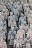 Terracotta warriors in detail Royalty Free Stock Photo
