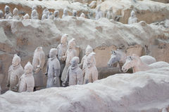 Terracotta warriors excavation Stock Image