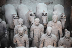 Terracotta warriors and horses Royalty Free Stock Images