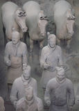 Terracotta warriors and horses in Xian Royalty Free Stock Photos