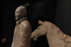 Terracotta Warriors Liverpool royalty free stock photo