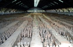 Terracotta warriors at the Mausoleum of the First Qin Emperor, Xian, China. Terracotta warriors at the Mausoleum of the First Qin Emperor royalty free stock image