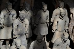 Terracotta warriors at the Mausoleum of the First Qin Emperor, Xian, China stock photos