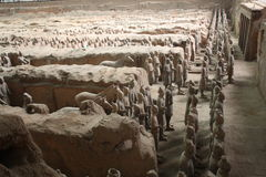 Terracotta warriors museum, Xian Royalty Free Stock Image