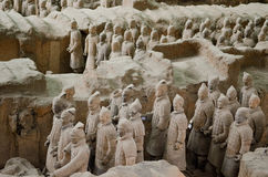 Terracotta warriors museum in Xian Royalty Free Stock Photos