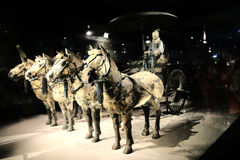 The Terracotta warriors museum in Xian city Royalty Free Stock Photos