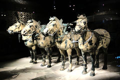 The Terracotta warriors museum in Xian city Royalty Free Stock Photography