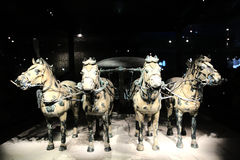 The Terracotta warriors museum in Xian city Royalty Free Stock Photo