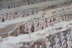 Terracotta Warriors Pit Royalty Free Stock Photo