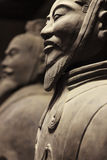 Terracotta warriors from the side, China Royalty Free Stock Images