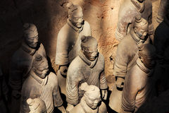 Terracotta warriors in sunlight Royalty Free Stock Photo