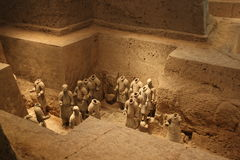 Terracotta warriors tomb Stock Images